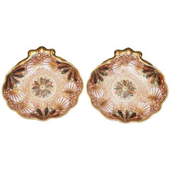 Pair of 19th Century Spode Shell Form Sweetmeat Dishes