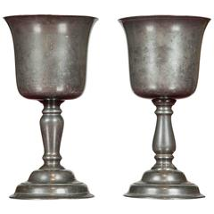 Pair of 18th Century Pewter Cups
