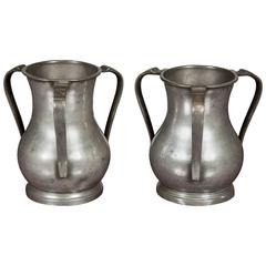 Pair of 18th Century Passing Cups, Silver pitchers, circa 1775