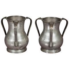 Pair of 18th Century Loving Cups