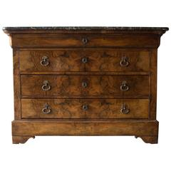 19th Century Louis Philippe Walnut Commode