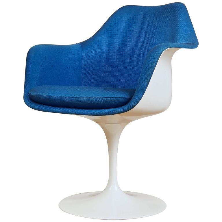 Vintage Tulip Chair Armchair By Eero Saarinen For Knoll