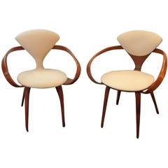 Near Pair Of Norman Cherner Pretzel Chairs