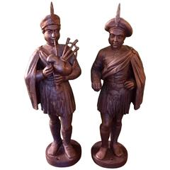 Mid-19th Century Scotsman Counter-Top Tobacco Trade Figures