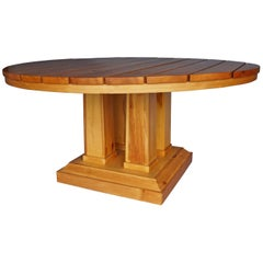 Large Circular Table in Pine