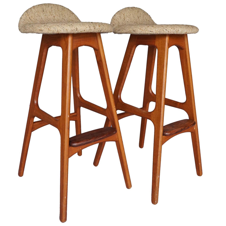 Danish Modern Bar Stools By Eric Buck Designer For Sale At 1stdibs