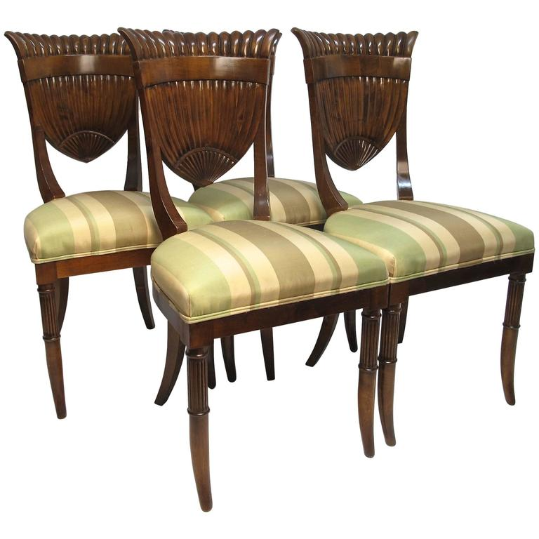 High Quality Italian Biedermeier Style Chairs 1