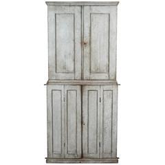 Painted Swedish Four-Door Cabinet