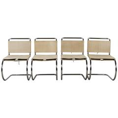 Set of Four Mies van Der Rohe Dining Chairs