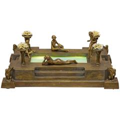 Vienna Bronze Group, Four Nudes Surrounding Illuminated Swimming Pool