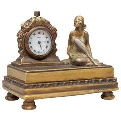 Erotic Hidden Bronze with Clock