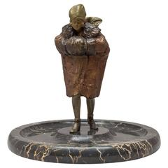 """Moveable Naughty Vienna Bronze """"Just Fur You"""" by Franz Bergmann"""