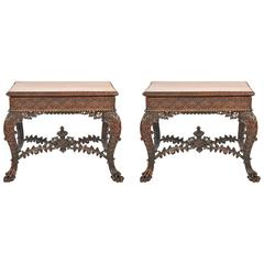 Pair of Anglo-Indian Card Tables, 19th Century