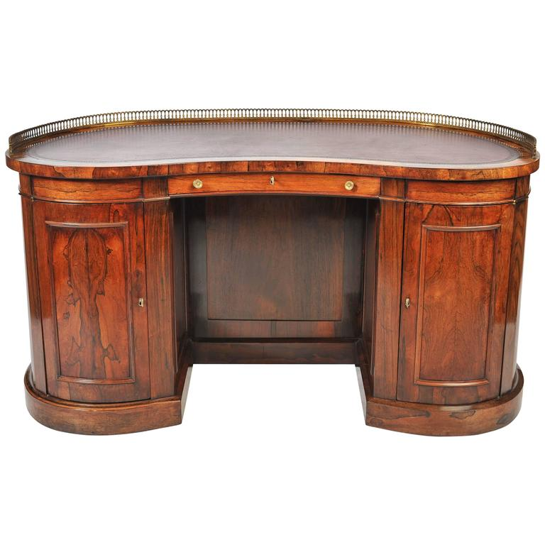 Regency kidney desk for sale at 1stdibs for Kidney desk for sale
