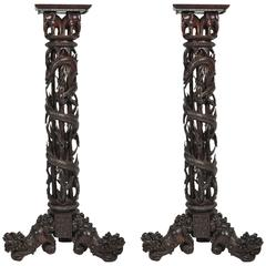 Pair of Chinese Torchas, 19th Century