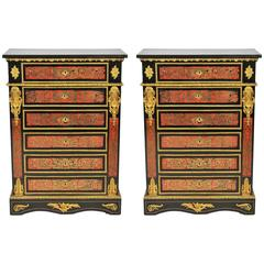 Pair of Boulle Cabinets, 19th Century