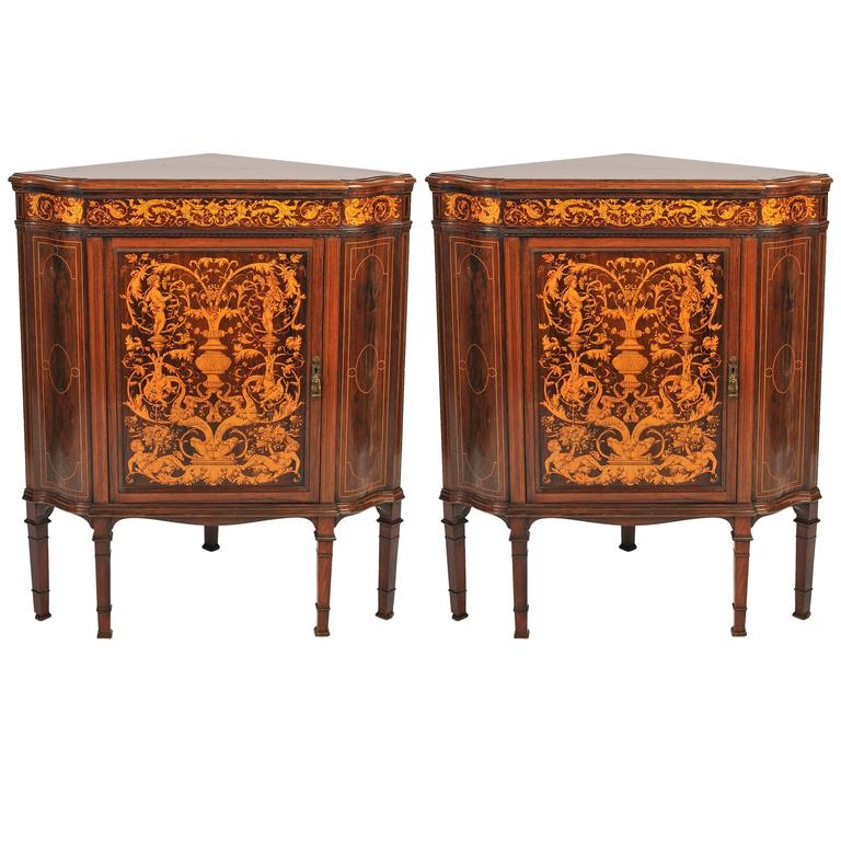 Pair of Corner Cabinets by Collinson and Lock