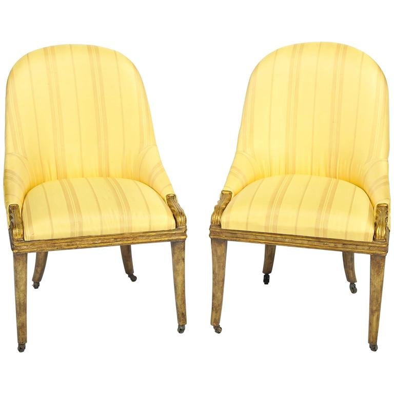 Pair of Regency Side Chairs For Sale