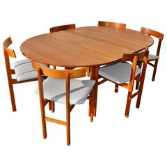 Impeccable Inger Klingenberg Uber Rare Solid Teak Dining Set of Six Chairs