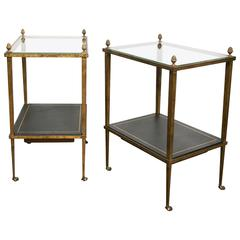 Rare Pair of Side Tables by Maison Ramsay