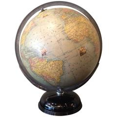 Art Deco Indexed Terrestrial Art Globe By Rand McNally & Co.