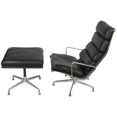 eames soft pad lounge chair and ottoman