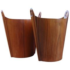 Pair of P. S. Heggen Wastepaper Baskets, Norway