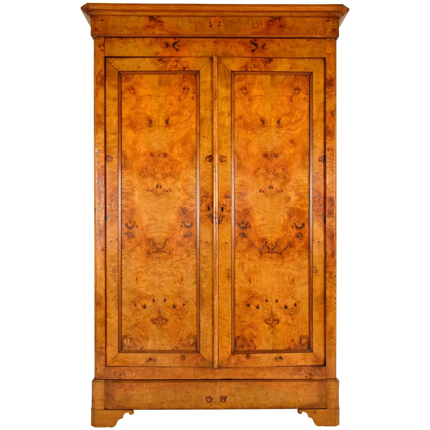 french 19th century louis philippe two door armoire for. Black Bedroom Furniture Sets. Home Design Ideas