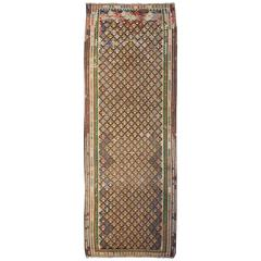 Fantastic Early 20th Century Qazvin Kilim Runner
