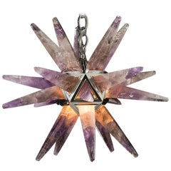Amethyst Star III Chandelier Silver Edition by Alexandre Vossion