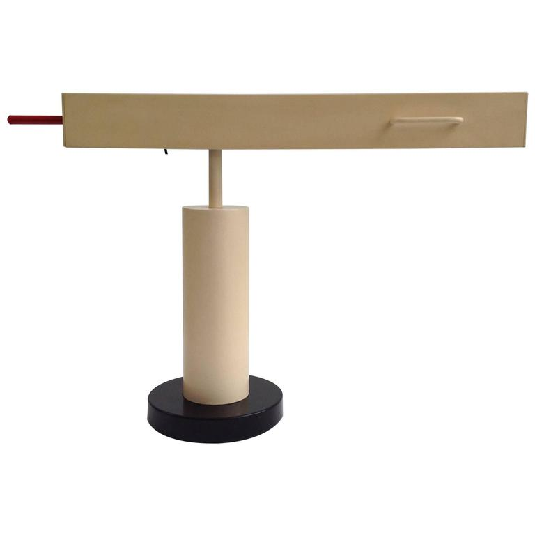 Extremely Rare Desk Lamp Design by Ettore Sottsass, Made in Small Quantity 1