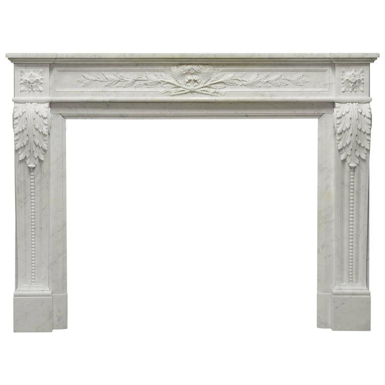 Antique French Louis XVI Fireplace Mantel, 19th Century