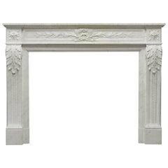 Superb Antique French Louis XVI Fireplace Mantel, 19th Century
