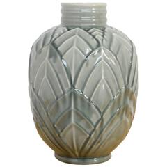 Large Earthenware Vase by Charles Catteau for Boch Frères Keramis
