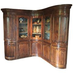18th Century Oak Corner Library Cupboard
