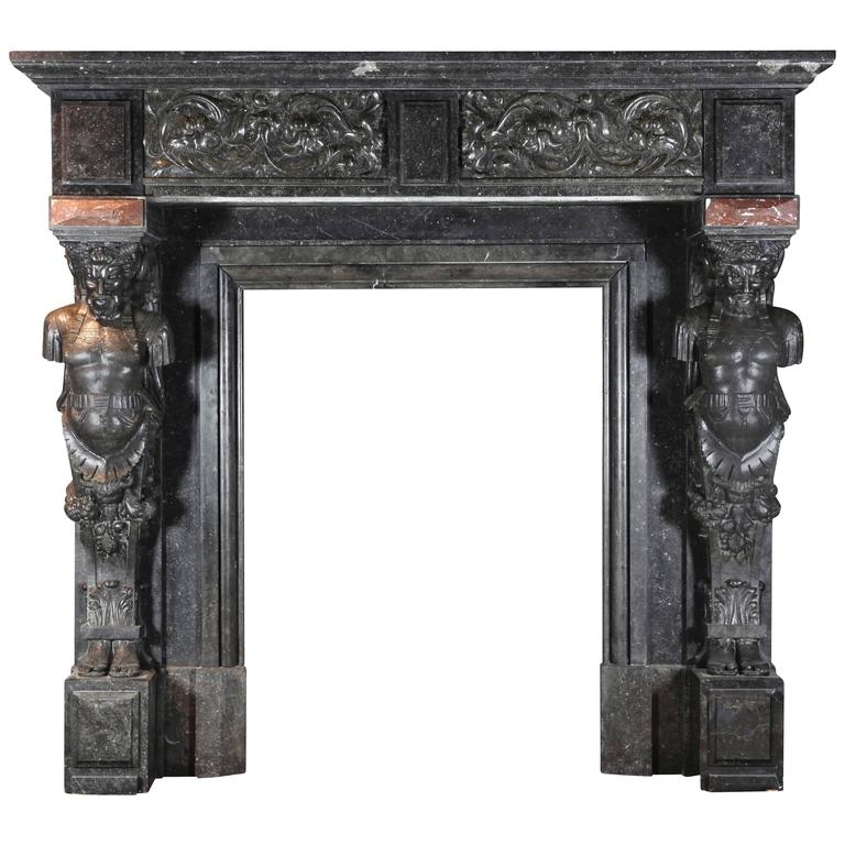 19th Century Belgian Antique Fireplace Mantel For Sale At 1stdibs
