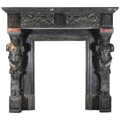 19th Century Belgian Antique Fireplace Mantel