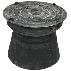 Fun Cast Aluminum Rain Drum Side Table
