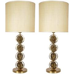 Pair of Lamps Signed by Gianluca Fontana