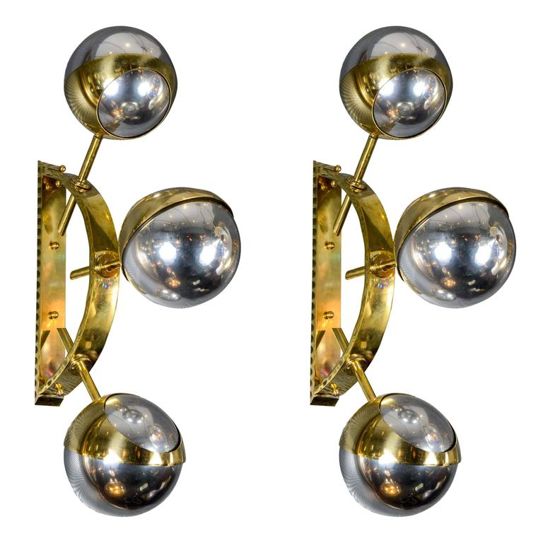 Wall Sconces With Mercury Glass : Pair of Mercury Glass Sconces at 1stdibs