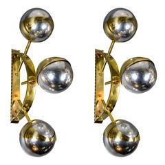 Pair of Mercury Glass Sconces