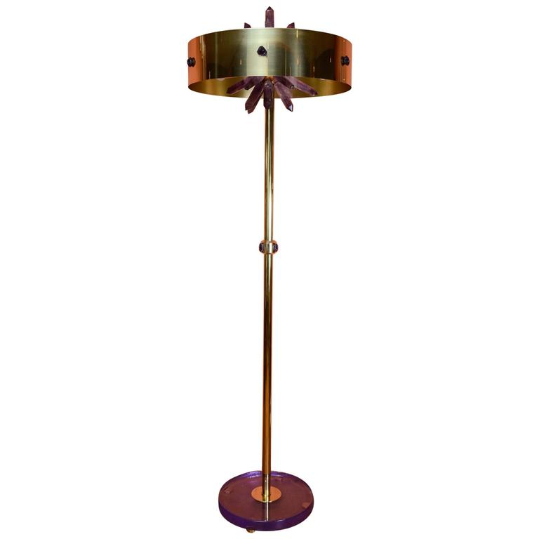 Floor Lamp with Amethyst by Gianluca Fontana