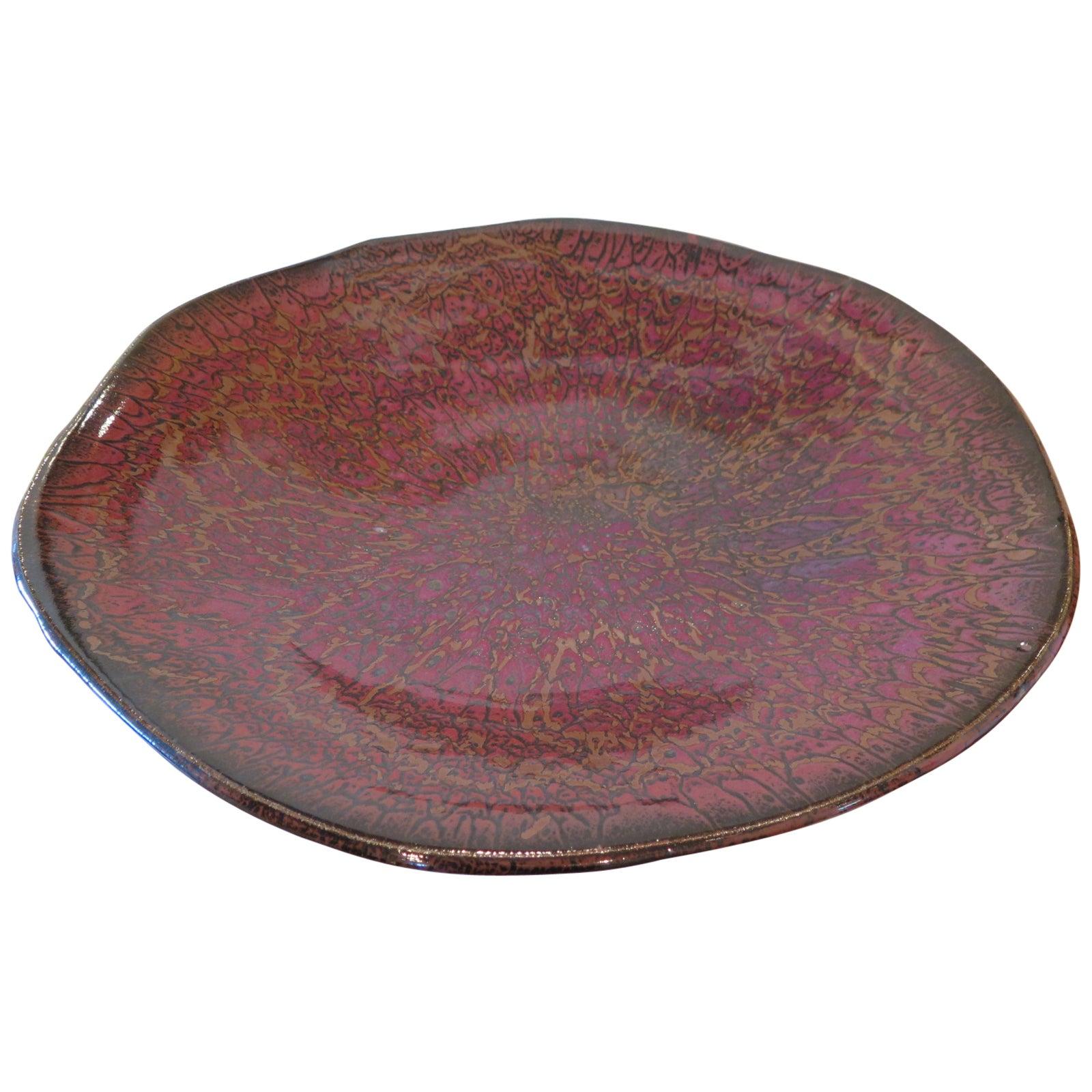 Unique Ceramic Charger by Charlie Parker