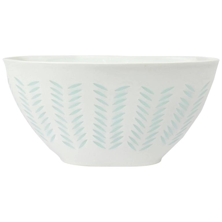 Finnish Modern Rice Grains Porcelain Bowl by Holzer-Kjellberg for Arabia, 1970s
