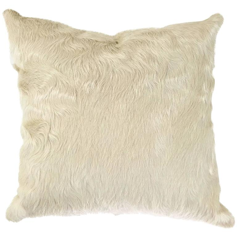 Ivory Brazilian Cowhide Pillow For Sale At 1stdibs