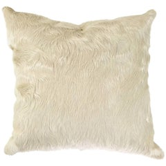 Ivory Brazilian Cowhide Pillow