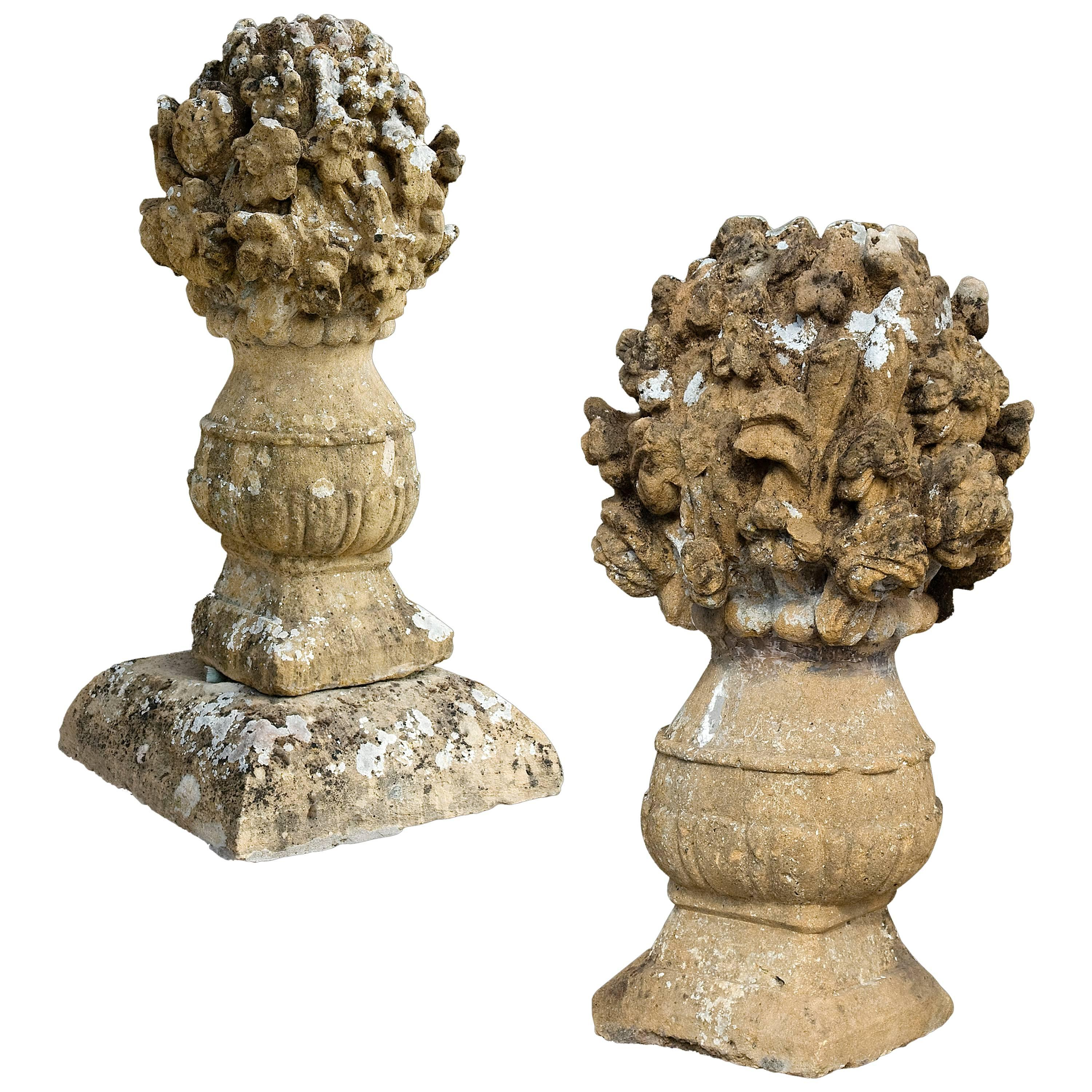 17th Century Stone Flower Vases