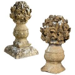 17th Century Stone Flower Vases