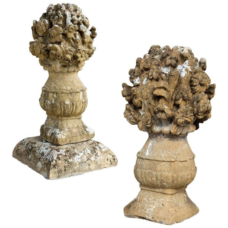 17th Century Stone Flower Vases For Sale