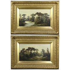 Pair of Framed American Landscapes Paintings